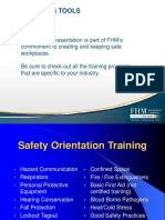 Safety Orientation Training FHM COVER