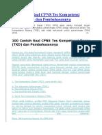 100 Contoh Soal CPNS Tes Kompetensi Dasar.docx
