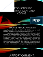 Introduction to Apportionment and Voting
