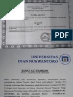 Sertifikat Akreditasi BANPT UDINUS - Teknik Informatika