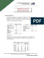 MEMORIA DE CALCULO Sistema de Desagüe