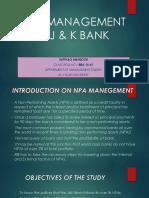 NPA management in jandk bank. PPT