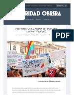 """[Feminismo] Cuando El """"Lumpen"""" Levanta La Voz - Solidaridad Obrera"""