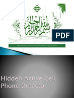 Hidden Active Cell Phone Detector