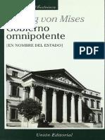 Ludwig von Mises - Gobierno Omnipotente.pdf