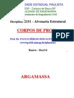 Alv. Estrutural - Corpos Prova