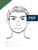 Face Worksheet Boy