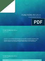 Functions in c