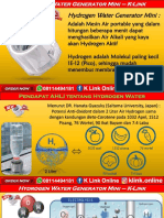 K Link Hydrogen Water Generator H2 Mini Bengkulu Tengah WA 08114494181