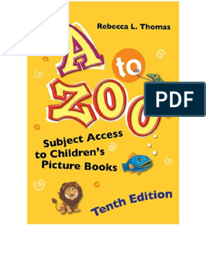 A to Zoo - Subject Access to Children's Picture Books, 10th