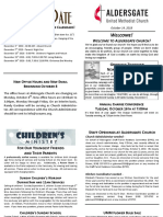 Bulletin Supplement October 14 2018