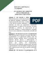 Ley General Del Ambiente Sept 2005