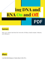 turning dna and rna on and off  1