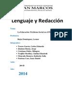 Monografia Sobre La Educacion