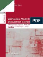 Isil Dillig, Jens Palsberg - Verification, model checking and abstract interpretation.