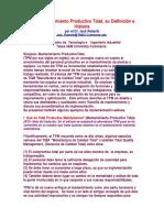 definicion e historiaTPM Mantenimiento Productivo Total.doc
