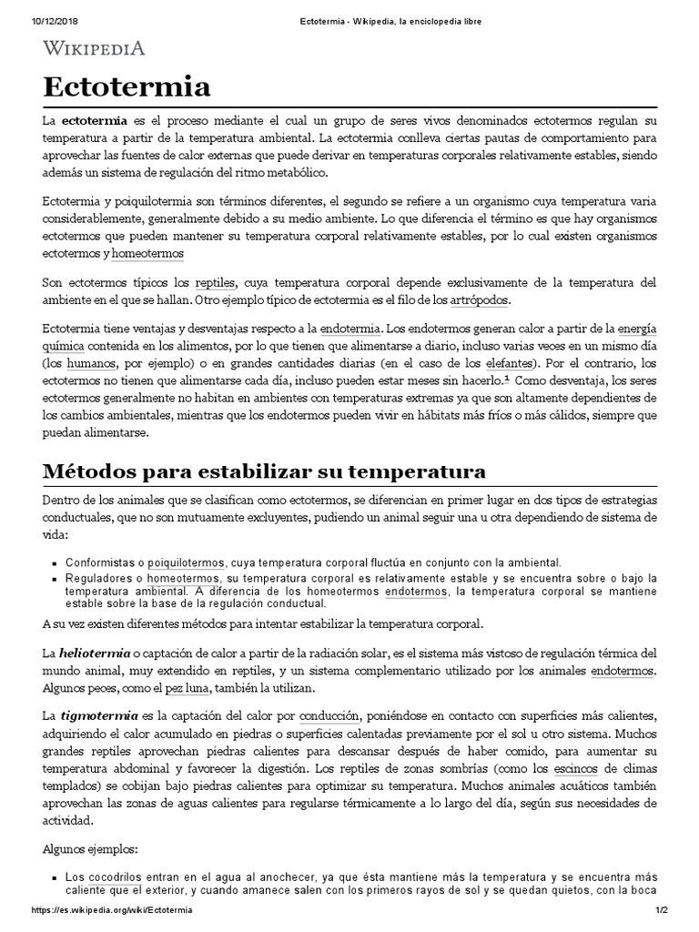 Wikipedia enfermeria temperatura en