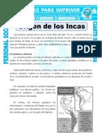 Ficha Origen de Los Incas Para Cuarto de Primaria (1)