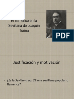 El Flamenco en La Sevillana de Joaquín Turina