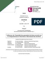 Influence de l'Humidité Des Granulats de Béton Recyclé Sur Le Comportement à l'État Frais Et Durcissant Des Mortiers-2015-Le_Unlocked