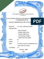 El control en el proceso Administrativo de la CMAC Piura SAC, Huaraz