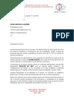 Carta Clínica San Francisco Consulta Externa Tuluá