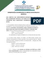 Normatização de Refeições 2014