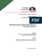 Metodologia Diseno Bioclimatico Fuentes 2002 MAB
