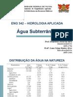 Água Subterrânea ENG342 2013