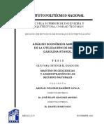 analisis de la utilizacion de las mezclas de gasolina-etanol gsohol