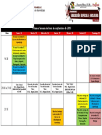 Cronograma Semana 1 Módulo 11