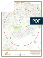 Map of Mosquito Sample Spray Area in Georgetown