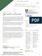 Caso Título Supletorio de Propiedad - Derecho Innovador