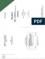BENVENISTE, Émile. Os níveis da análise linguística (cap. 10); As relações de tempo no verbo francês (cap. 19); A natureza dos pronomes (cap. 20).pdf