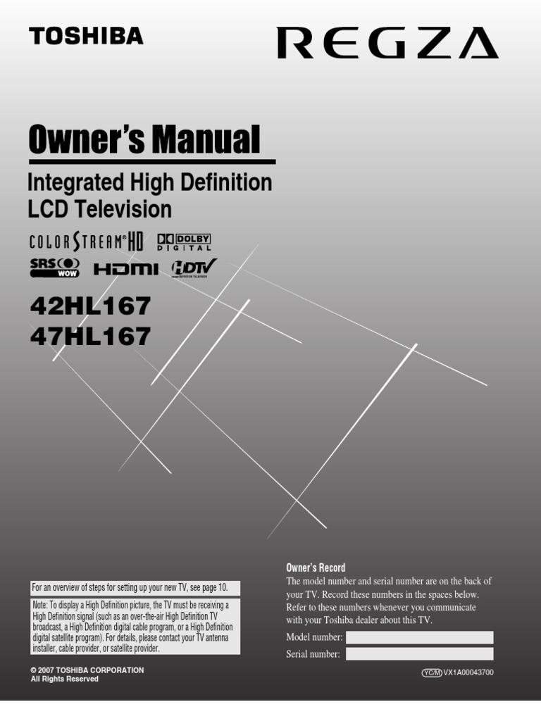 42HL167 MANUAL PDF