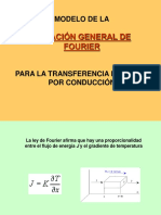 Modelo Fourier Conduccion Calor