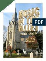 Music in the Valley 2018-2019 Season Brochure