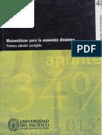 Matematicas para una economía dinámica Jose Luis Bonifaz