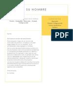 Carta de Presentacion Modificable