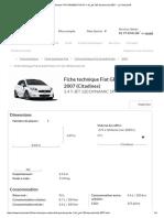 Fiche Technique Fiat Grande Punto 1q