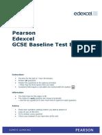 GCSE Maths Baseline Test B