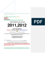 Control Systems Exma 2011 and 2012