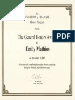 general honors award   1