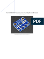 Adafruit Hdc1008 Temperature and Humidity Sensor Breakout