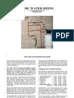 Basic Water Sizing Test 1