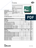 Technical Data Sheet RF Module TC24138