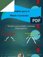 Presentación Modelos de diseño curricular