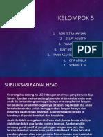 Subluxation Radial Head