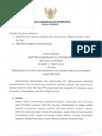 Surat Edaran Menkominfo No. 3 Tahun 2016 ttg Penyediaan Layanan Aplikasi dan atau Konten melalui internet.pdf