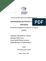 2017 Bravo Gin Macerado de Frutas y Hierbas Peruanas